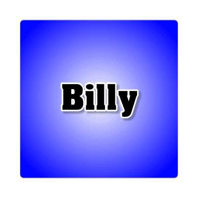 billy common names male custom name sticker