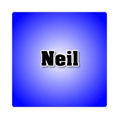 neil common names male custom name sticker
