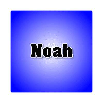 noah common names male custom name sticker