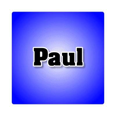 paul common names male custom name sticker