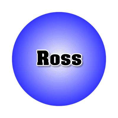 ross common names male custom name sticker