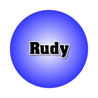 rudy common names male custom name sticker