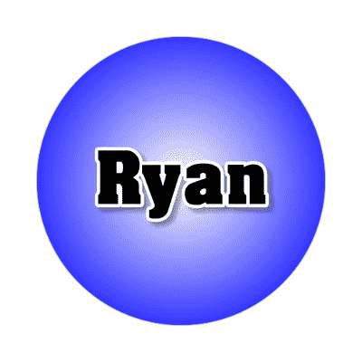 ryan common names male custom name sticker