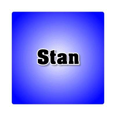 stan common names male custom name sticker