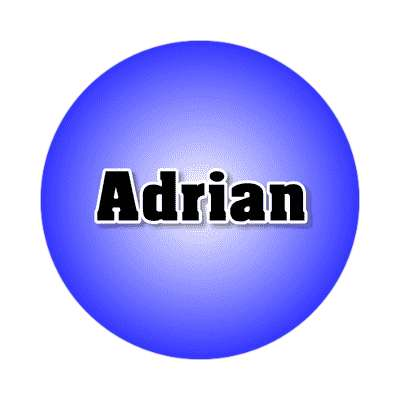 adrian common names male custom name sticker
