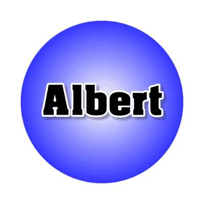 albert common names male custom name sticker