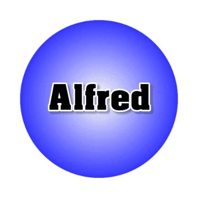 alfred common names male custom name sticker
