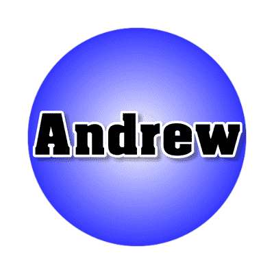 andrew common names male custom name sticker