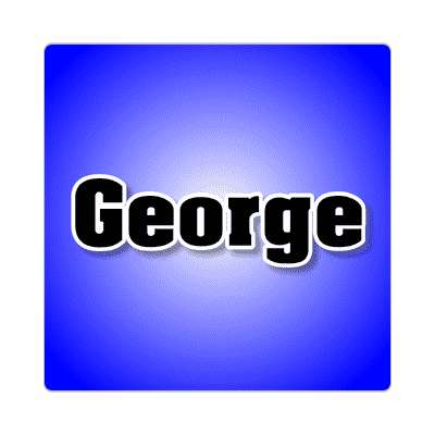 george common names male custom name sticker