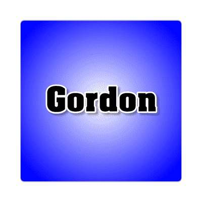 gordon common names male custom name sticker