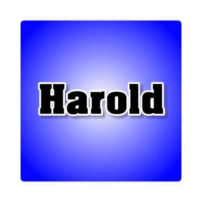harold common names male custom name sticker