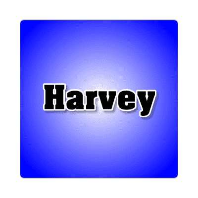 harvey common names male custom name sticker