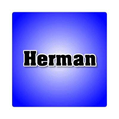 herman common names male custom name sticker