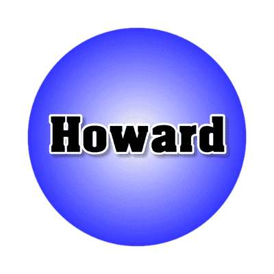 howard common names male custom name sticker