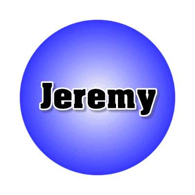 jeremy common names male custom name sticker