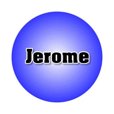 jerome common names male custom name sticker