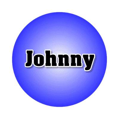johnny common names male custom name sticker