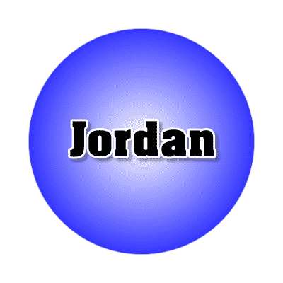 jordan common names male custom name sticker