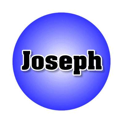 joseph common names male custom name sticker