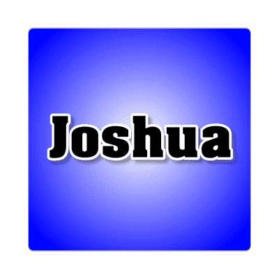 joshua common names male custom name sticker
