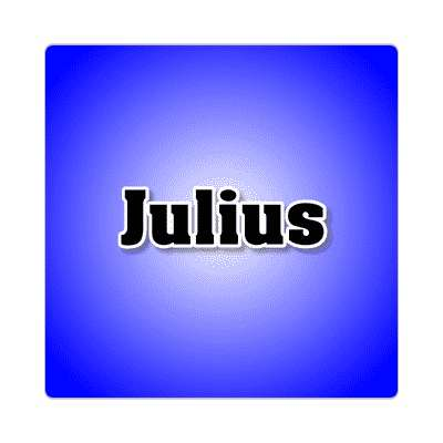 julius common names male custom name sticker