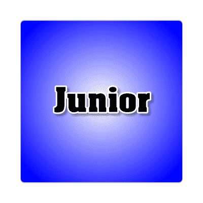 junior common names male custom name sticker