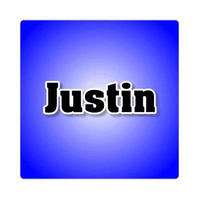 justin common names male custom name sticker