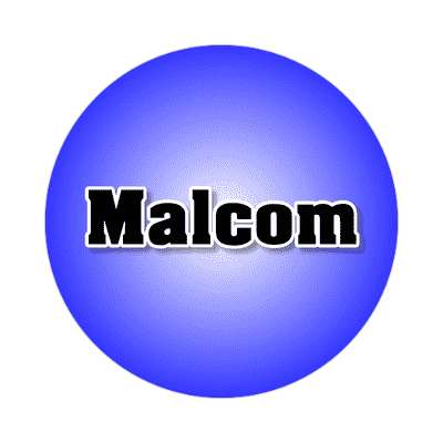 malcom common names male custom name sticker