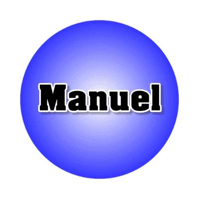 manuel common names male custom name sticker