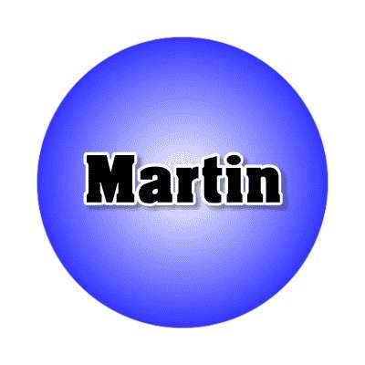 martin common names male custom name sticker