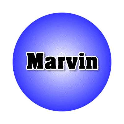 marvin common names male custom name sticker