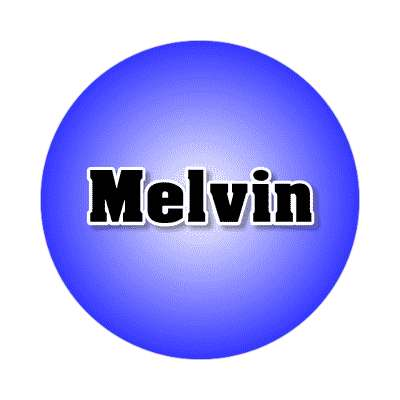 melvin common names male custom name sticker