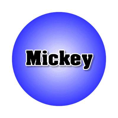 mickey common names male custom name sticker