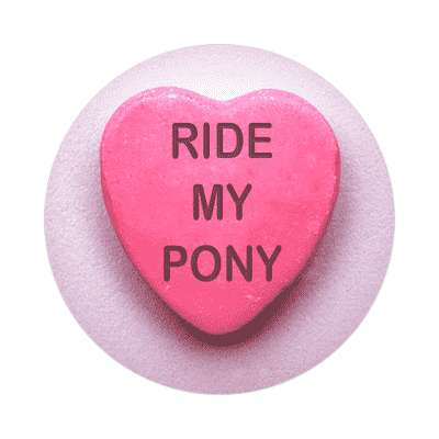 ride my pony valentines day love candy heart sticker funny sayings hilarious