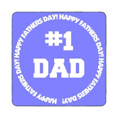number one dad magnet happy fathers day dad holiday daddy father