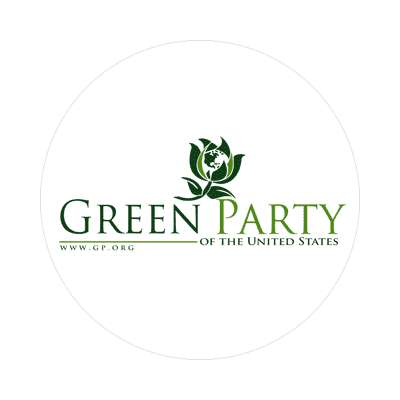 green party sticker modern political politics