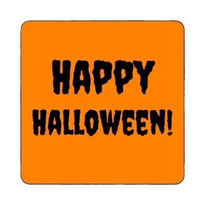 happy halloween magnet holiday halloween jackolantern pumpkin trick or treat