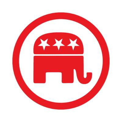 republican elephant sticker modern political politics 2020