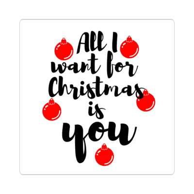 all i want for christmas is you sticker christmas holiday xmas xmas tree winter holiday