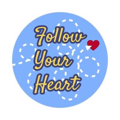 follow your heart vday valentines day holiday sticker love heart romance