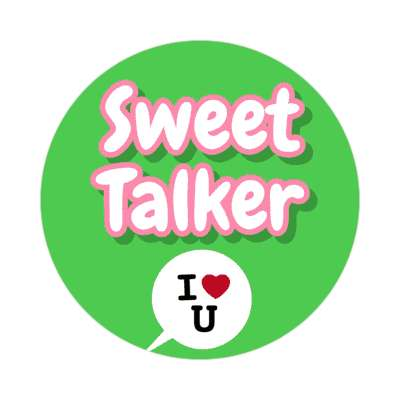 Sweet Talker vday valentines day holiday sticker love heart romance