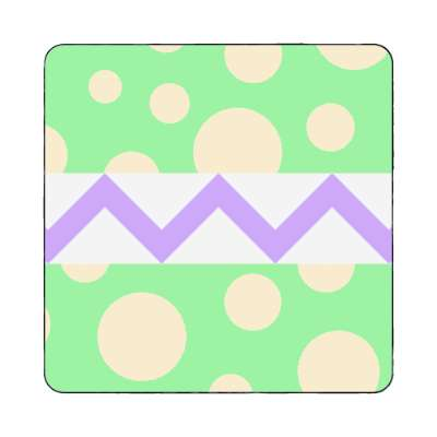 Easter Egg Design Zig zag polka dots happy easter magnet easter bunny holiday bunny rabbit egg sunday jesus resurrection