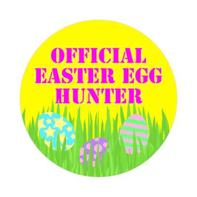 official easter egg hunter happy easter sticker easter bunny holiday bunny rabbit egg sunday jesus resurrection