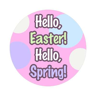 hello easter hello spring happy easter sticker easter bunny holiday bunny rabbit egg sunday jesus resurrection