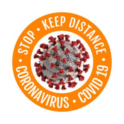 stop keep distance coronavirus covid 19 coronavirus covid-19 sticker pandemic corona disease illness safety warning