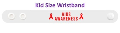 aids red awareness ribbon hiv white wristband