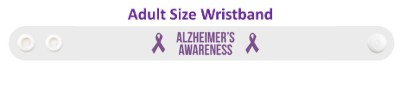 alzheimers awareness ribbon wristband
