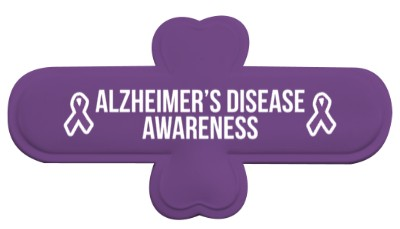 alzheimers disease awareness purple awareness ribbon white stickers, magnet