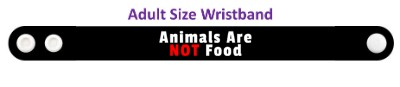 animals are not food black wristband