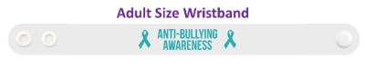 anti bullying awareness ribbon wristband